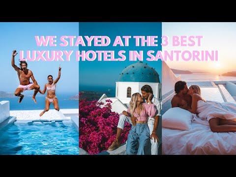 We stayed at the 3 best luxury hotels in Santorini - Santorini Vlog 2020