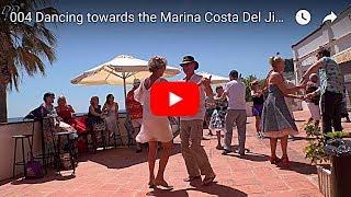004 Dancing towards the Marina Costa Del Jive 9 on 17 April 2018