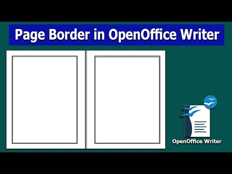 How To Add Page Border In OpenOffice Writer