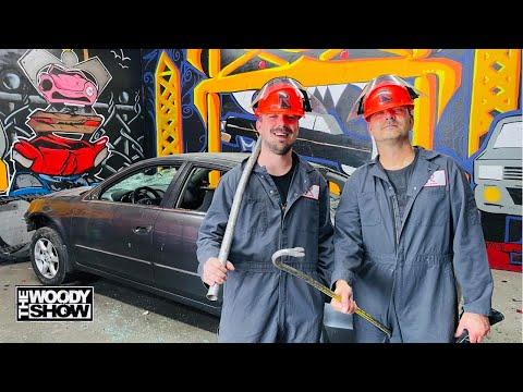 Greg and Cameron Destroy a Car