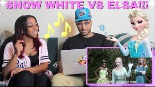 """""""SNOW WHITE vs ELSA: Princess Rap Battle"""" By Whitney Avalon Reaction!!! thumbnail"""
