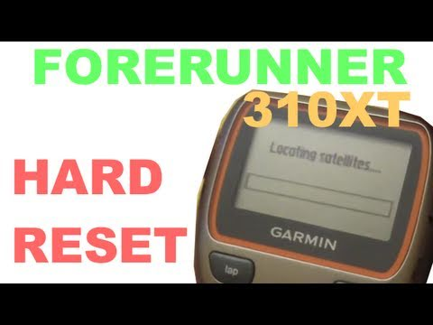 Garmin Forerunner 310 XT - How to Reset Your Device - When it is Dead - Resetting