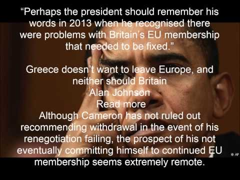 Obama's remarks on UK remaining in EU get hostile Eurosceptic reaction