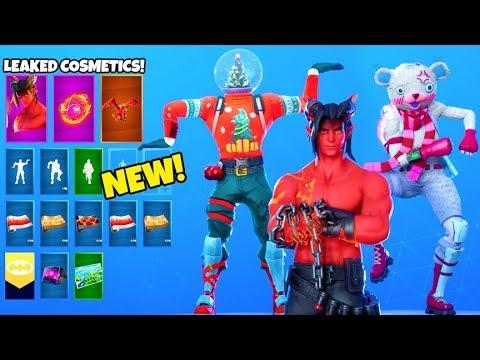*NEW* Skins & Emotes LEAKED..! (BIG CHUGGUS, Bundles, Christmas) Fortnite Battle Royale