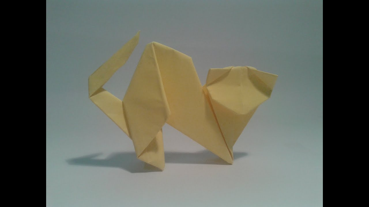 Origami - How to make an easy cat | Doovi - photo#37