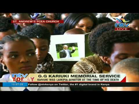 GG Kariuki's son Robert eulogizes his father