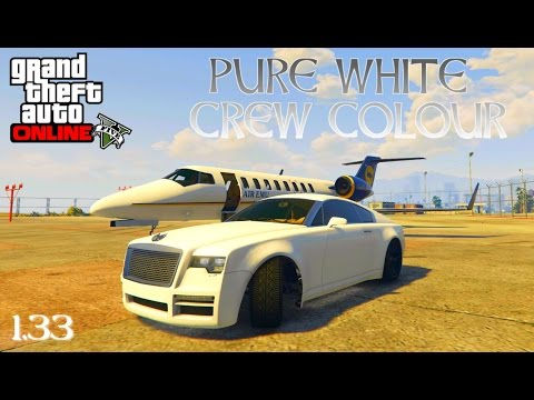 GTA 5 Online 'HOW TO GET A PURE WHITE CREW COLOUR' (1.33)