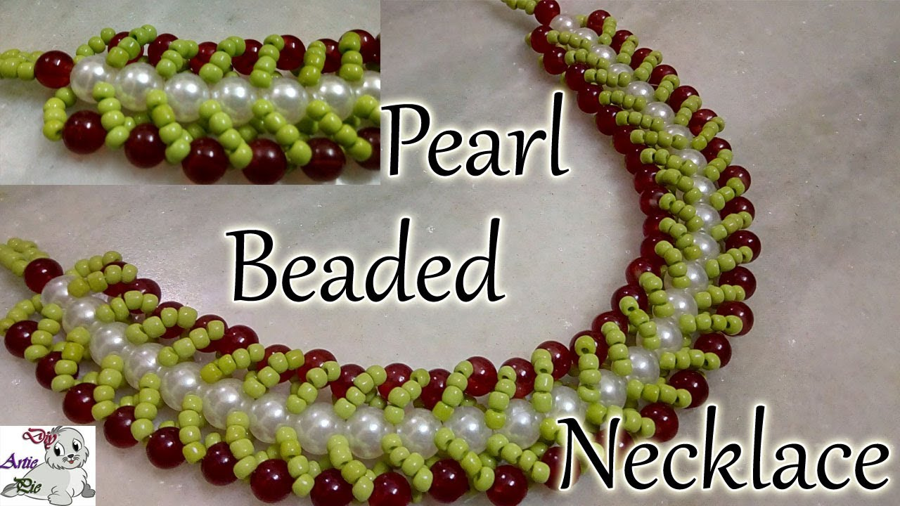 how to make pearl beaded necklace