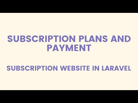 Subscription Plan and Payment with Stripe : Subscription Website in Laravel 5.5