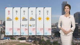 [날씨] 주말 맑고 자외선 강해…밤부터 제주 비 / 연…