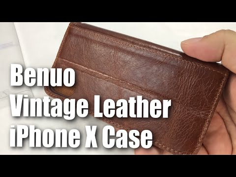 Benuo Vintage Book Series Leather Folio Case For IPhone X First Look