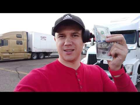 Сколько я зарабатываю обычным водителем трака в США!  День второй.