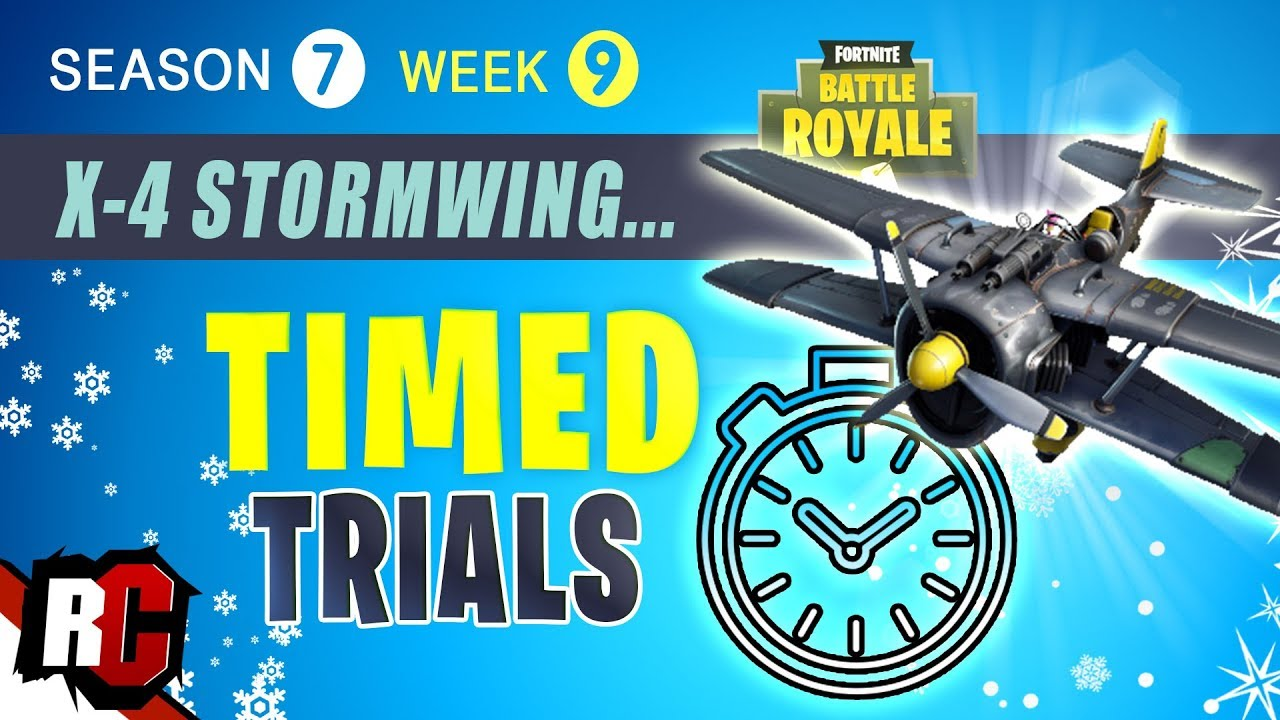 Plane Time Trials Fortnite Guide Fortnite Week 9 Timed Trials Locations For X 4 Stormwing Challenge Season 7 Youtube