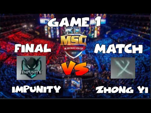 FINAL MATCH GAME 1 | IMPUNITY vs ZHONG YI - MSC Championship SINGAPORE