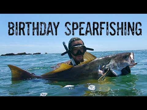 Shore Dive Spearfishing In SoCal For Beach Birthday Bash!!