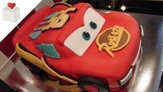 Tarta Rayo McQueen cubierta con Fondant | Tartas de Fondant por Azúcar con Amor