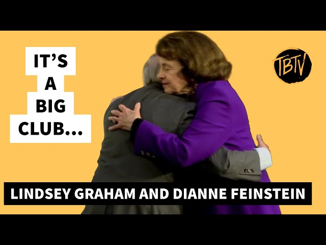 Dianne Feinstein and Lindsey Graham A Warm Embrace | Tim Black