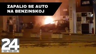 Zapalio se auto na benzinskoj u Zagrebu