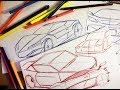 COMO DIBUJAR UN AUTO - practica con bolígrafo