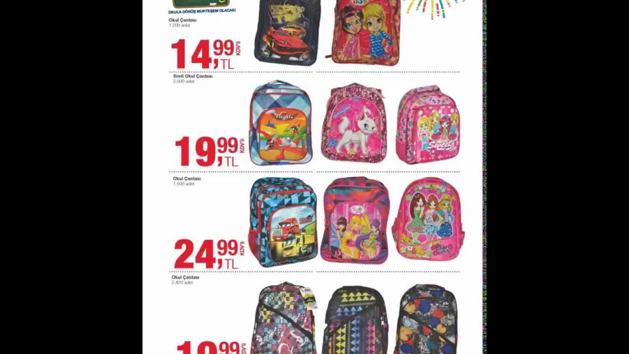 978b29fc4f12e Metro okul ürünleri kataloğu 2016 kırtasiye - okul çantası - giyim - YouTube