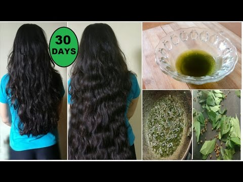 Homemade Curry Leaves Oil to Grow Long Thick Hair fast with Fenugreek Seeds & Coconut Oil