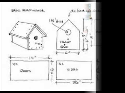 simple bird house plans - youtube
