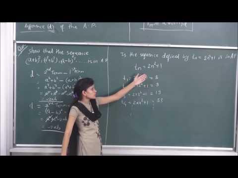 MATHS-XI-9-03 Arithmetic Progression(2016) Pradeep Kshetrapal channel