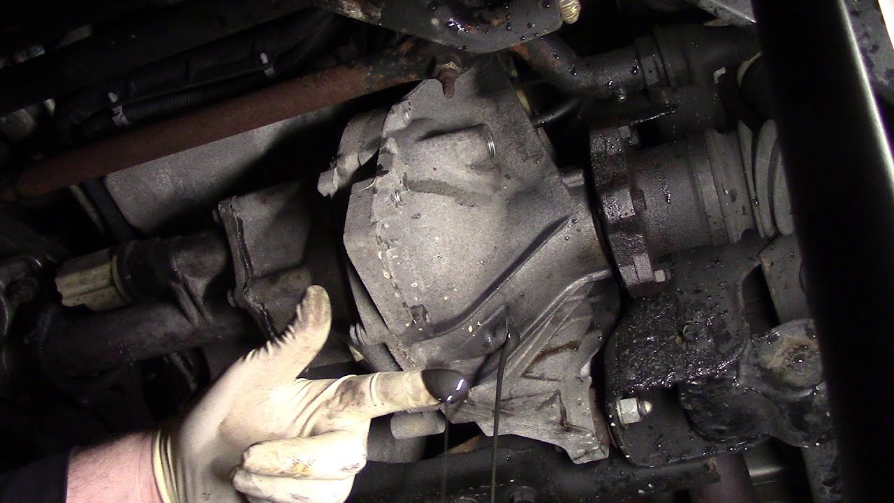 2004 silverado differential fluid change