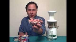 How To Make Peanut Butter In The Omega Vrt Juicer