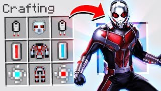 CRAFTING ANT-MAN ARMOR IN MINECRAFT!