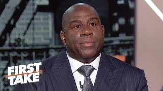 Magic Johnson says Lakers GM was 'backstabbing,' Luke Walton firing was the final straw | First Take