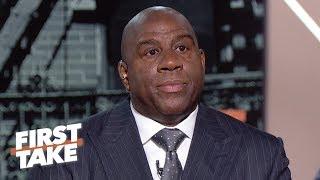 Download Magic Johnson says Lakers GM was 'backstabbing', Luke Walton firing was the final straw | First Take Mp3 and Videos