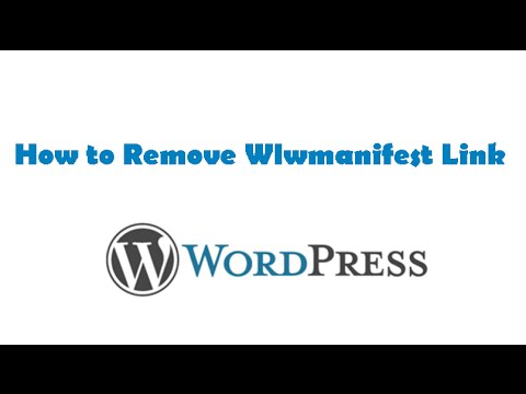 How To Remove Wlwmanifest Link (windows Live Writer)  Youtube