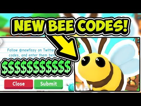 New Bee Update Roblox Adopt Me All New Adopt Me Free Bee Pet Update Codes 2019 Roblox Youtube