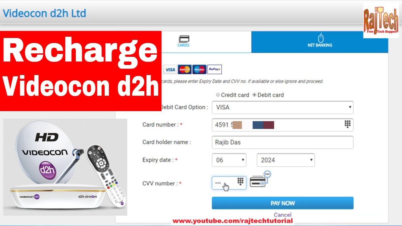 Videocon d2h card number