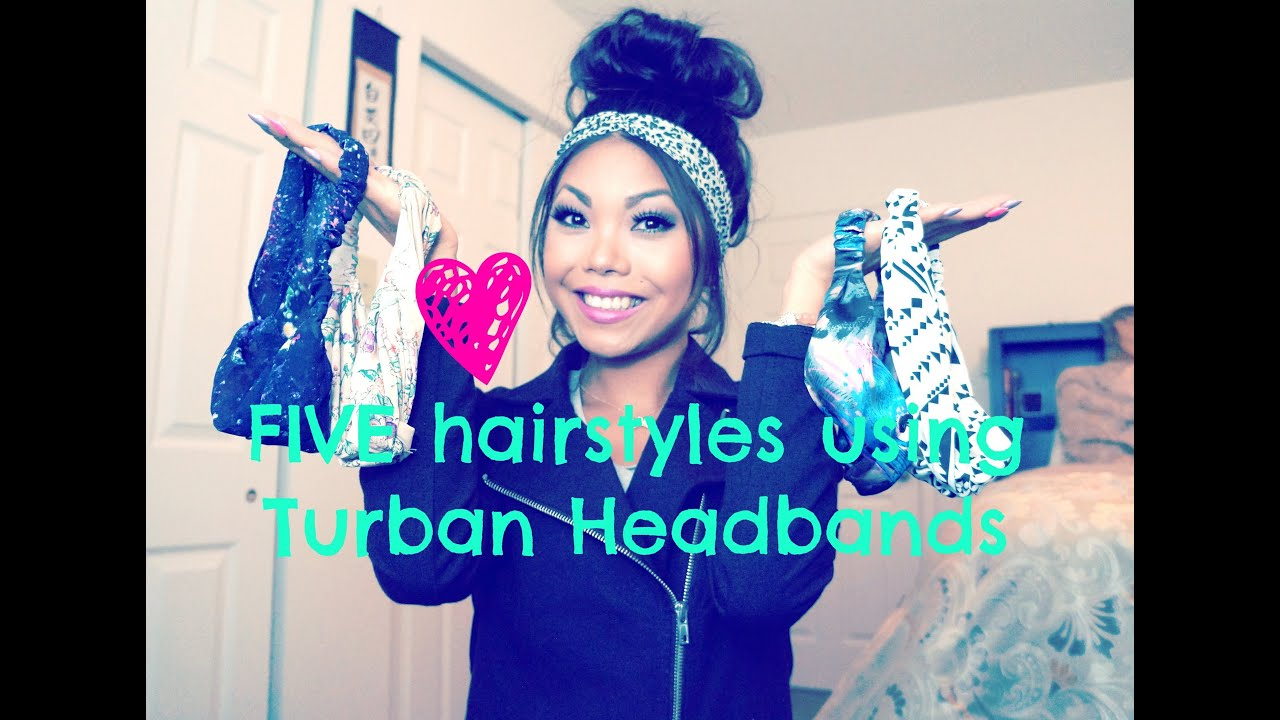 five easy hair styles using turban headbands!!! - youtube