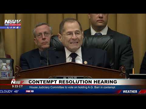House Judiciary Committee considers Contempt Resolution against Attorney General - PART 1