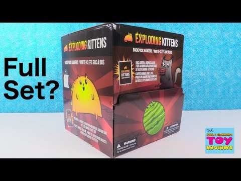 Exploding Kittens Game Backpack Hangers Blind Bag Toy Review Opening | PSToyReviews