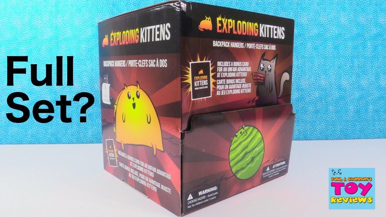 Exploding Kittens Game Backpack Hangers Blind Bag Toy
