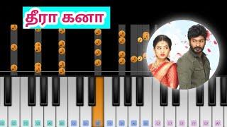 Idhayathai Thirudathey Serial - Theera Kanaa | Love Feel Song | Easy Piano Tutorial