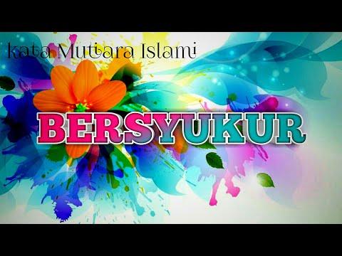 Kata Mutiara Islami Bersyukur