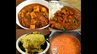4 Indian veg curries for rice and roti | veg curry recipes | Indian cooking