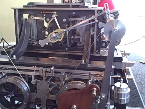 babbages difference engine    operation printing tables youtube