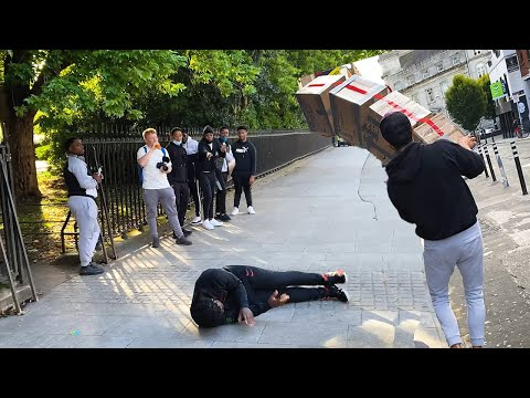 Craziest Reactions at Falling Boxes Prank