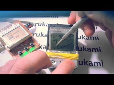 Осциллограф режим пауза (Arduino/nokia5110)