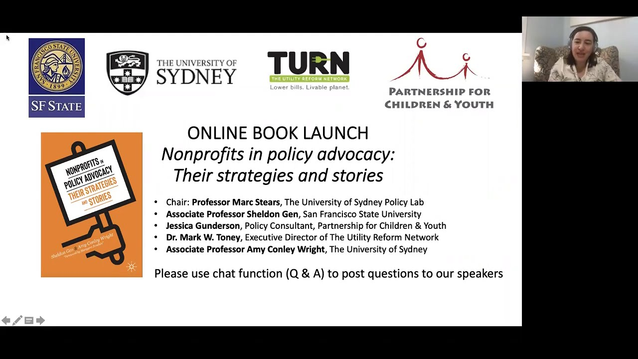 Online Book Launch Nonprofits In Policy Advocacy Their Strategies And Stories Youtube