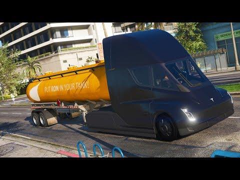 Tesla Semi delivering fuel - Los Santos Goes to Work - Day 47