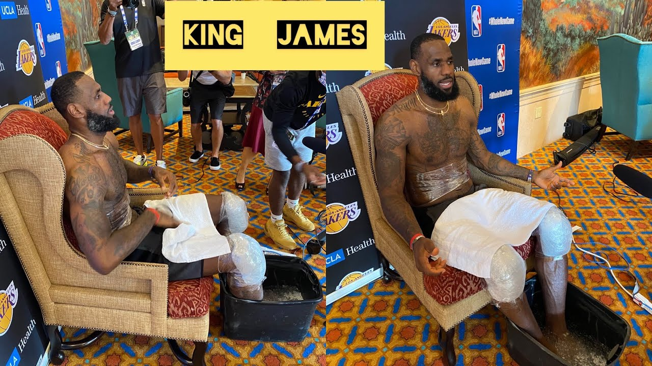 The King sets up a throne to begin his media interview