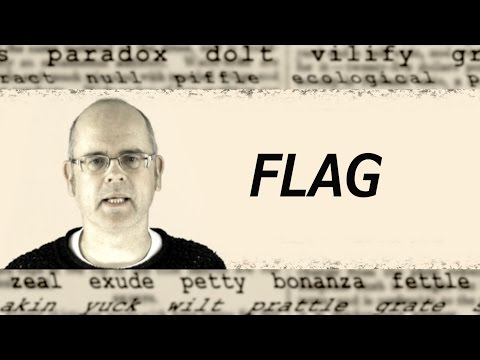 What Does FLAG Mean? English Word Definition