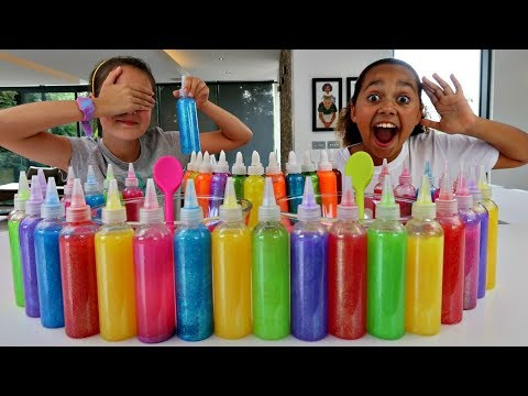 3 COLORS OF GLUE SLIME CHALLENGE!! w/ Summer